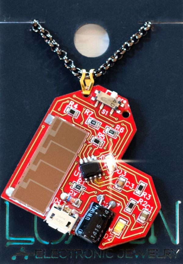 photo of Lumen electronic jewelry.