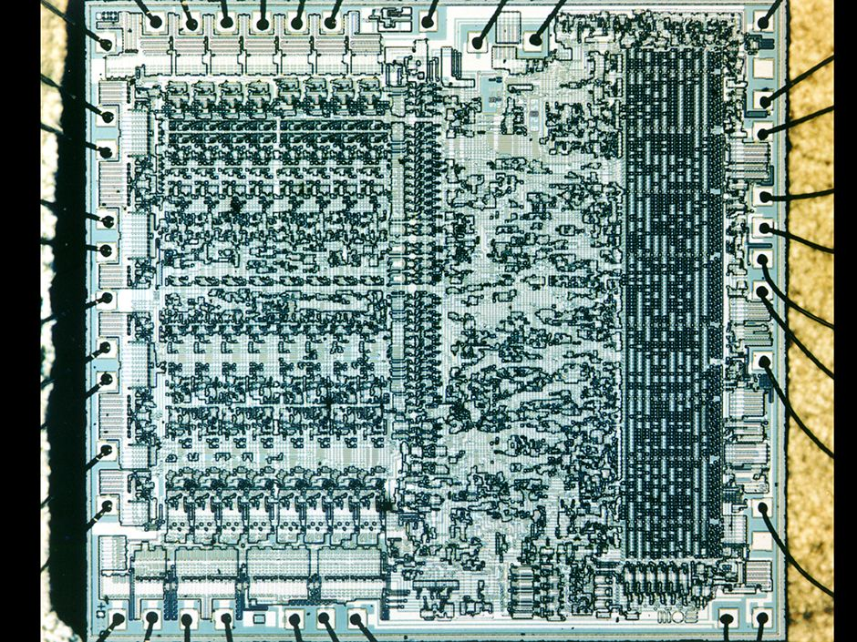 Main Circuit Board Of The Computer
