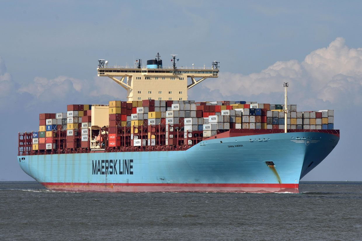 Photo: Martin Witte/Alamy The Big Leagues: The Emma Maersk, one of the  world's largest container ships, is powered by a diesel engine.
