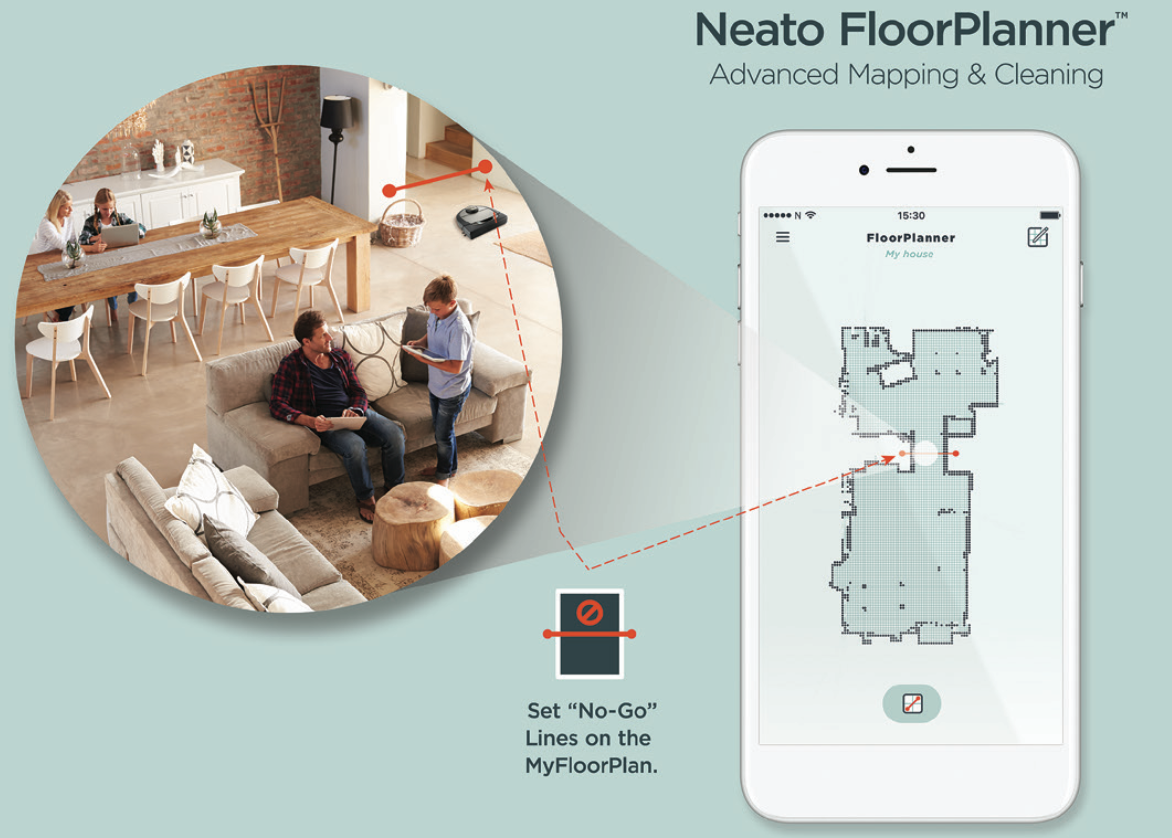 Neato Botvac D7 Connected floor planner app