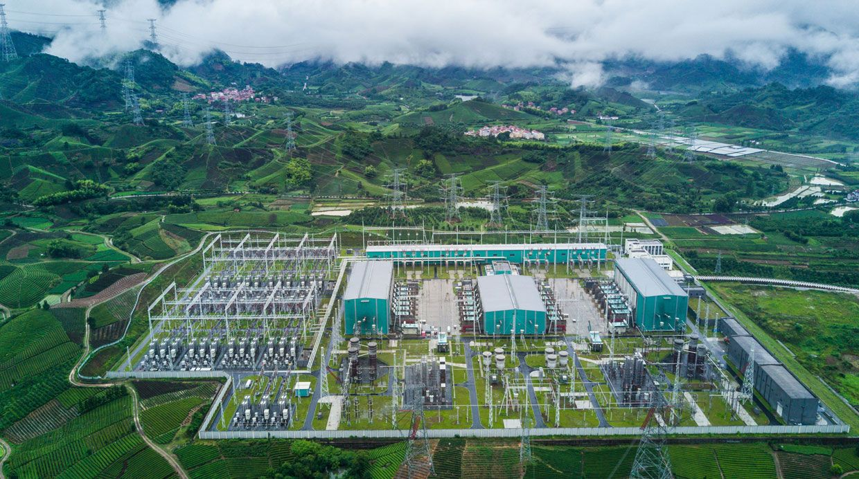 This station in Zhejiang province imports hydropower.