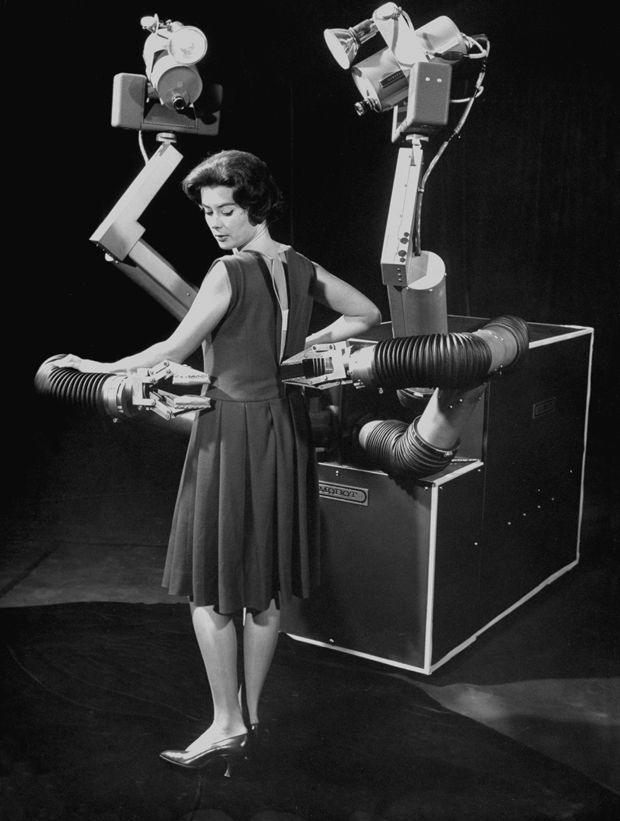 photo of woman posing with Mobot Mark II