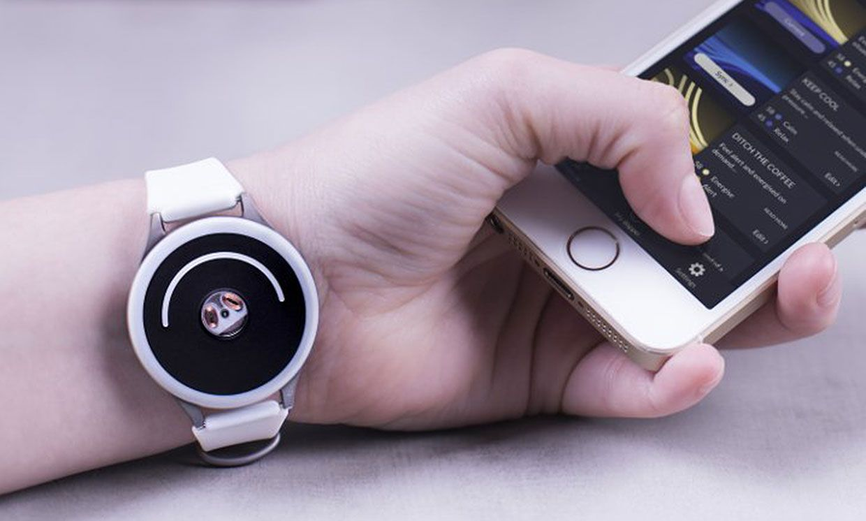 The Doppel device on a wrist.