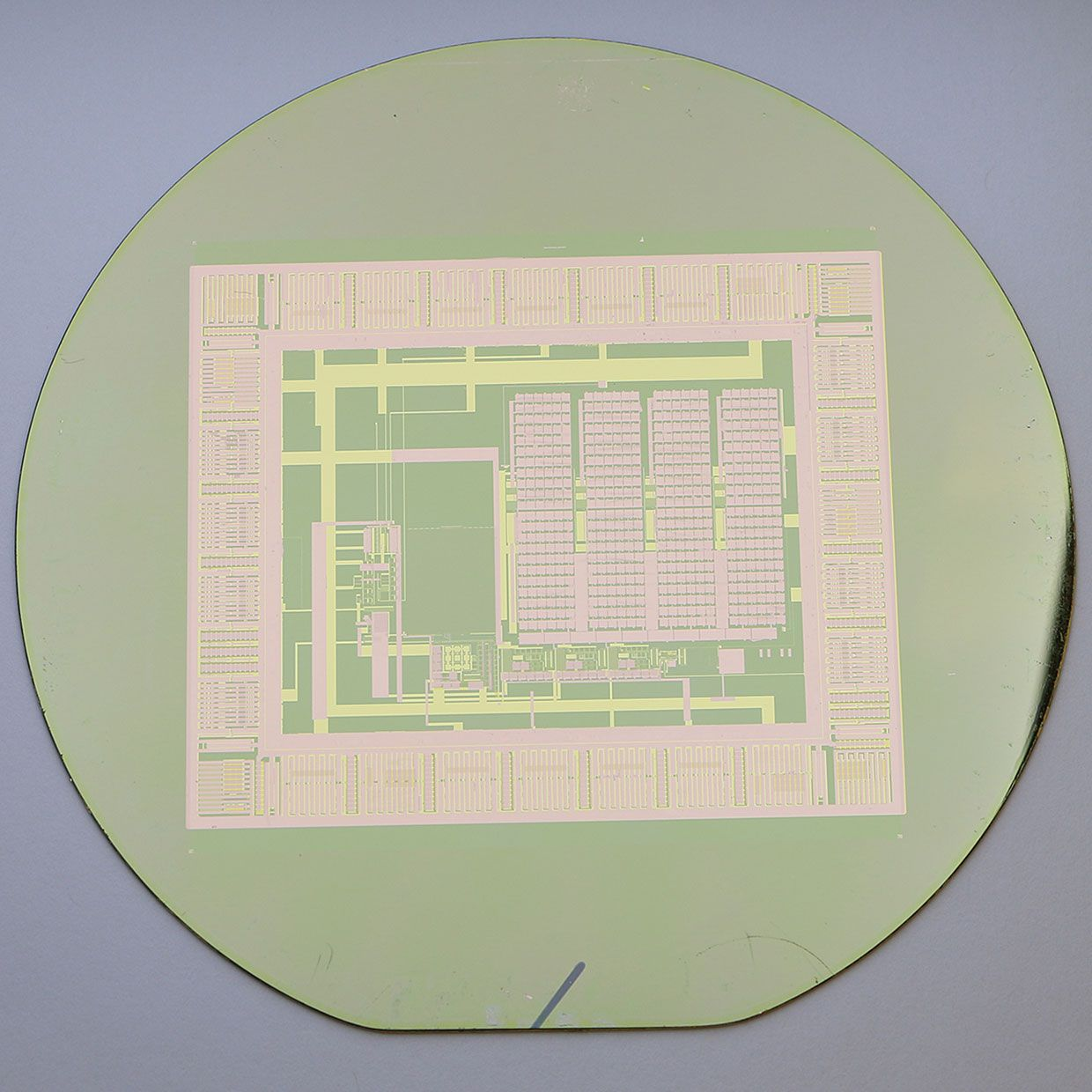 The thin-film electronic circuit can peel easily from its silicon wafer with water, making the wafer reusable for building a nearly infinite number of circuits.