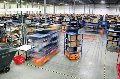 Kiva Systems warehouse robots