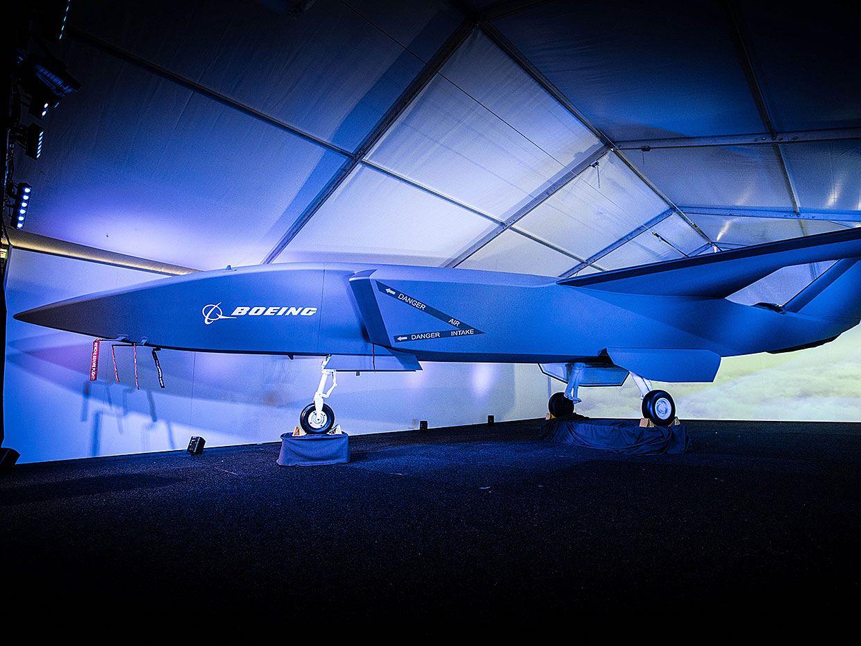 Boeing's autonomous fighter jet.