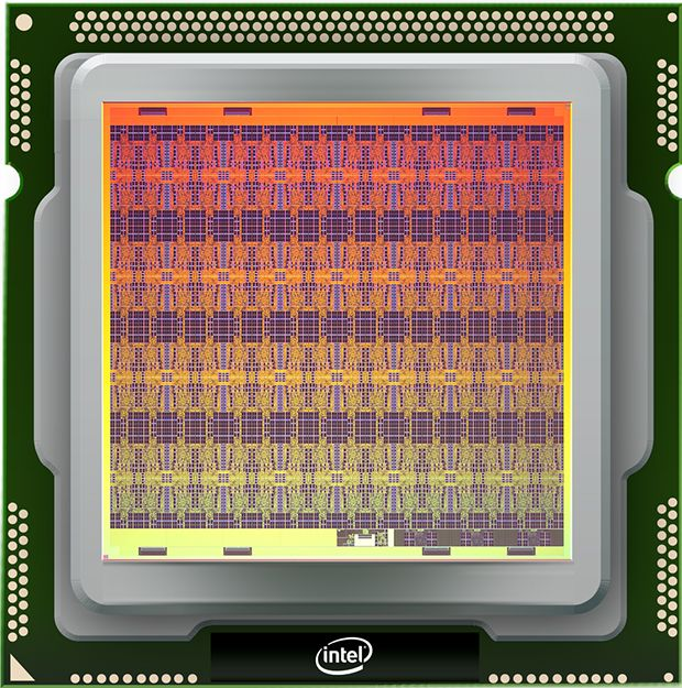 Intel's neuromorphic research chip Loihi.