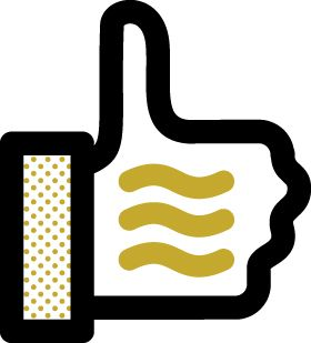 illustration of the Facebook thumbs up icon