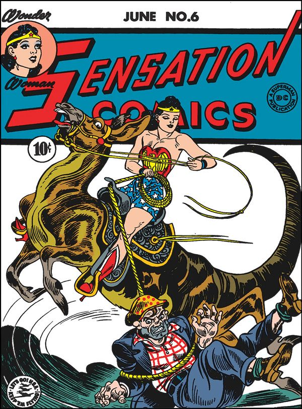 Wonder Woman and her Lasso of Truth, created by William Moulton Marston.