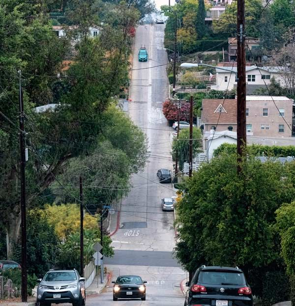 Photo of Baxter Street in Los Angeles.
