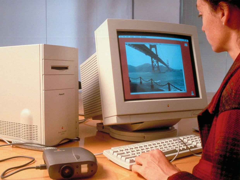 Computer showing Quicktake image.