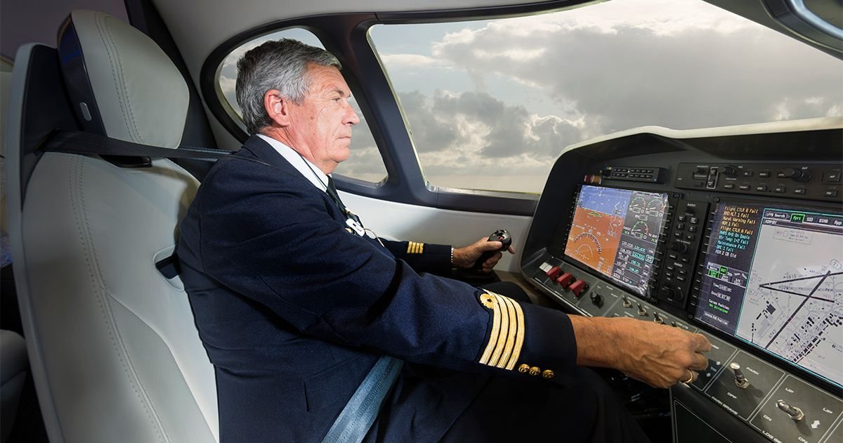 Pilot inside the Alice e-plane.