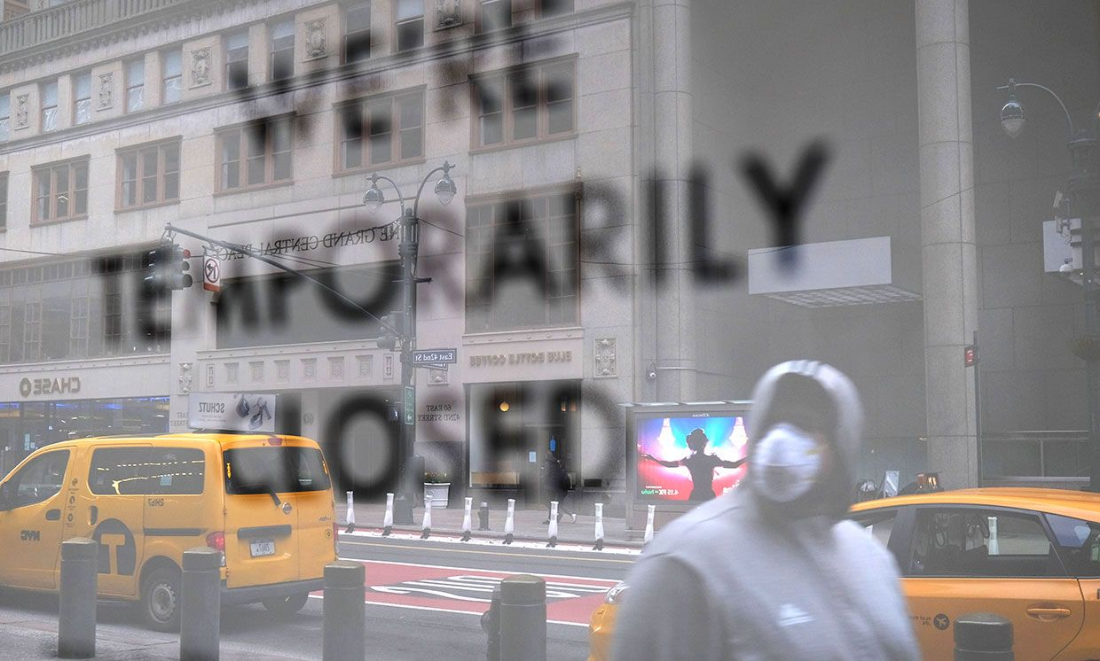 The streets of Manhattan stand nearly empty due to the coronavirus epidemic on April 10, 2020 in New York City.