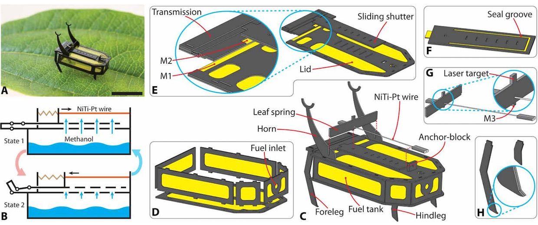 Robot beetle powered by methanol