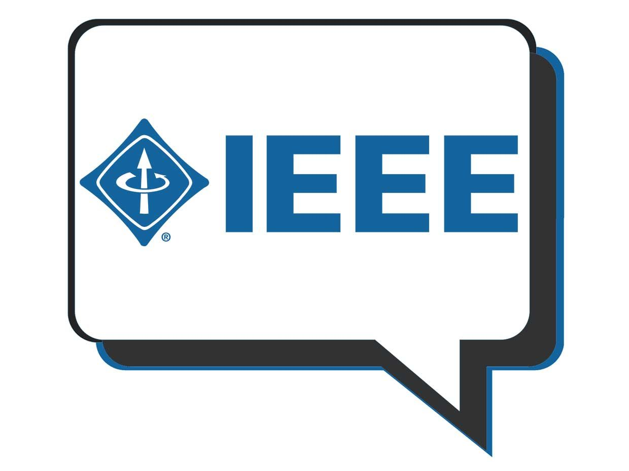 A word bubble with the IEEE inside.