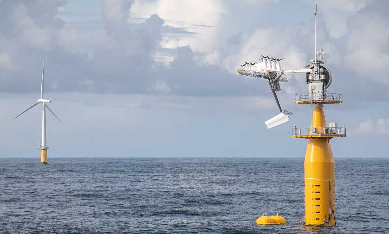 Makani's floating energy kite system off the coast of Norway — August 2019