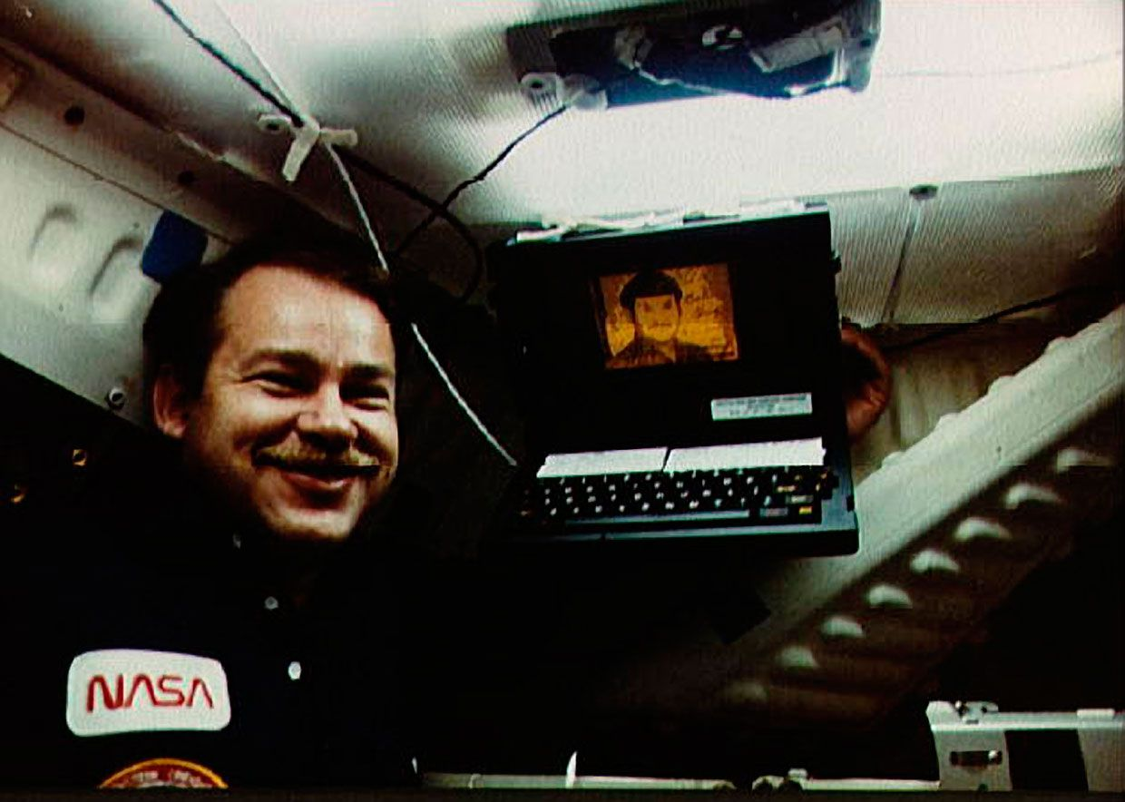 GRiD aboard a space shuttle flight with astronaut John O. Creighton.