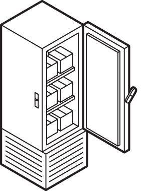 Illustration of a freezer