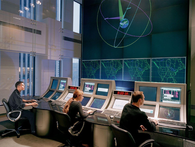 SiriusXM Radio Satellite Control Room.