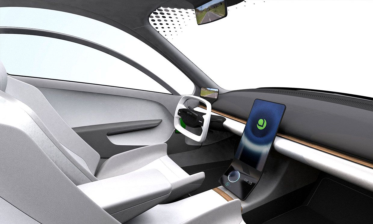 This schematic for the interior shares almost nothing with the decade-old version, reflecting advances in touchscreens and digital controls.