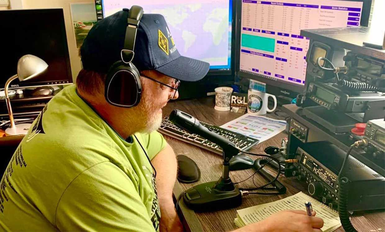 John Anderson, AJ7M, from Marysville, Washington enjoyed getting on the air from home for 2020 ARRL Field Day event, held June 27-28. Field Day is ham radio's largest on-air annual event and demonstration.