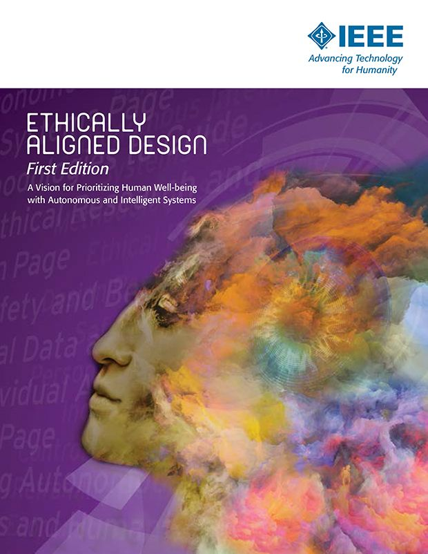 "Image of the cover of the book ""Ethically Aligned Design""."
