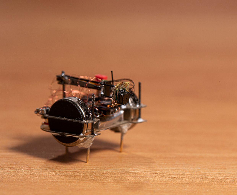UW bristlebot with microcamera