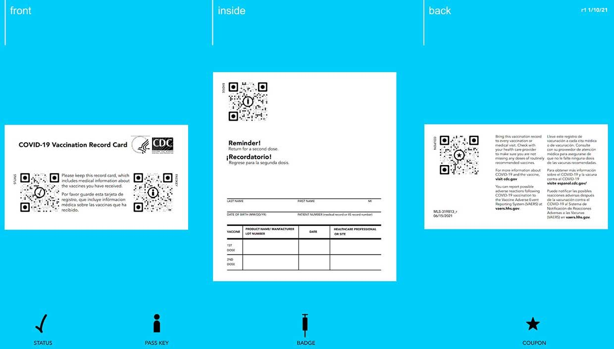 Photograph of the MIT vaccination cards
