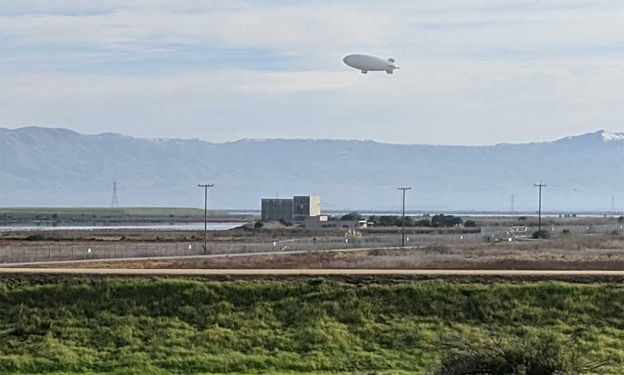 In January, LTA flew an older airship usually used for advertising at Moffett Field, likely testing flight systems