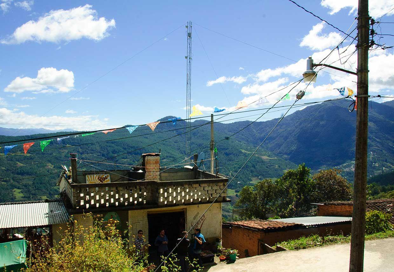 Scenic photograph of Talea de Castro's antenna in December 2014.