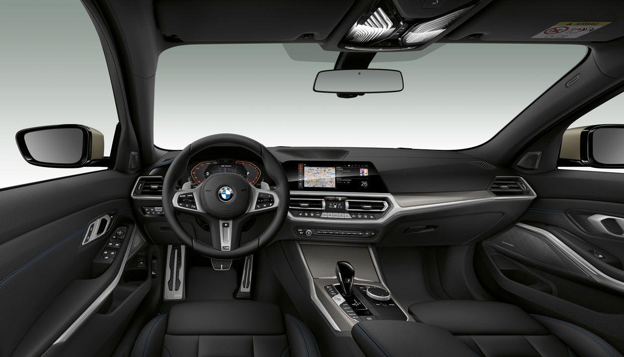 Inside of the BMW 3 Series.