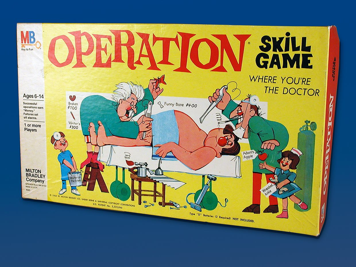 Photo of the Operation game box.