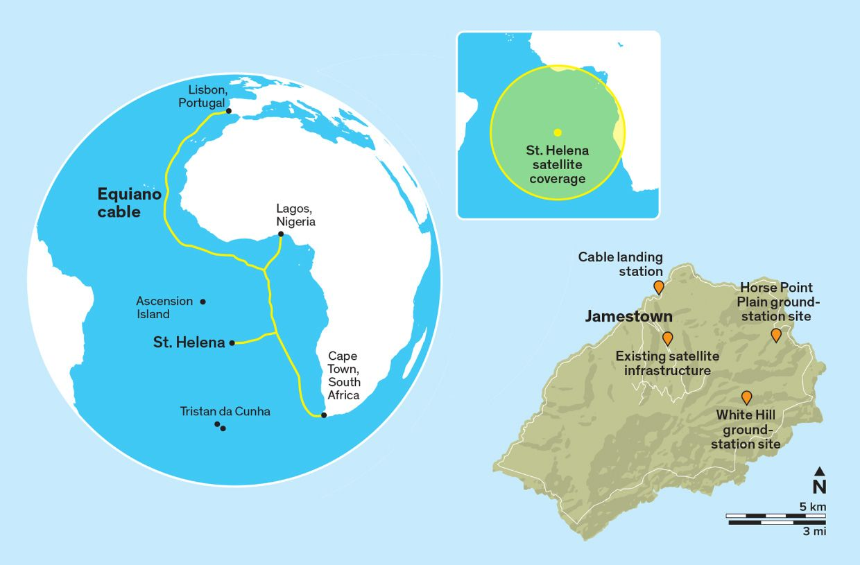 Map of St. Helena