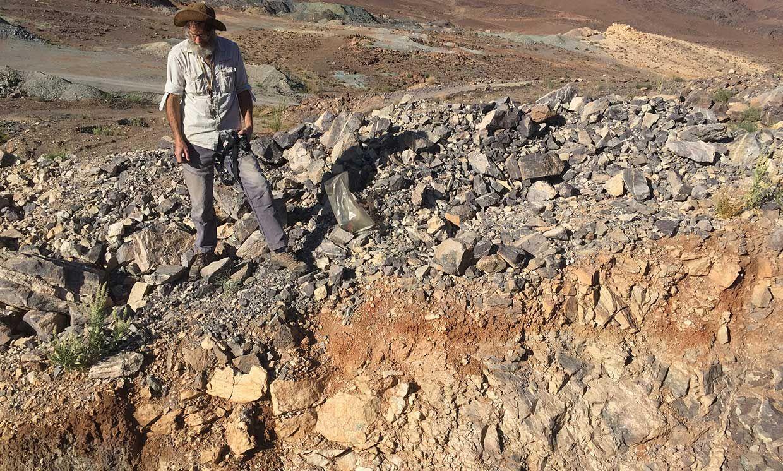Patrick Redmond of KoBold Metals evaluates a prospective cobalt-copper mining site in Zambia.