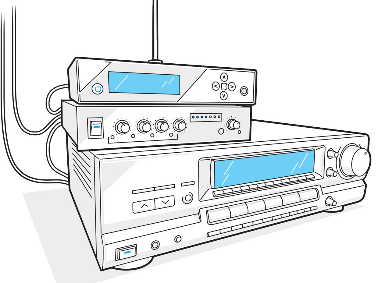 This project augments an existing microphone multiplexer and FM transmitter with a stereo receiver attached to the wire loop.