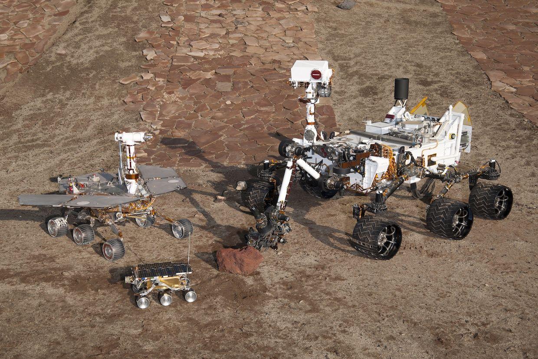 Three generation of Mars rovers