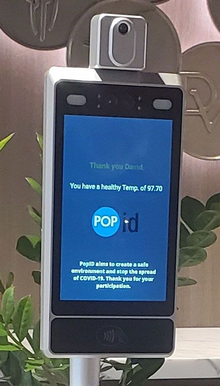 PopEntry+ from PopID performs facial recognition and temperature check
