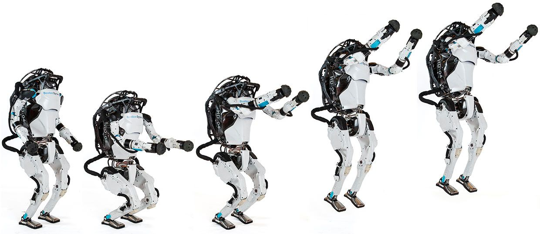 Boston Dynamics' Atlas jumping up