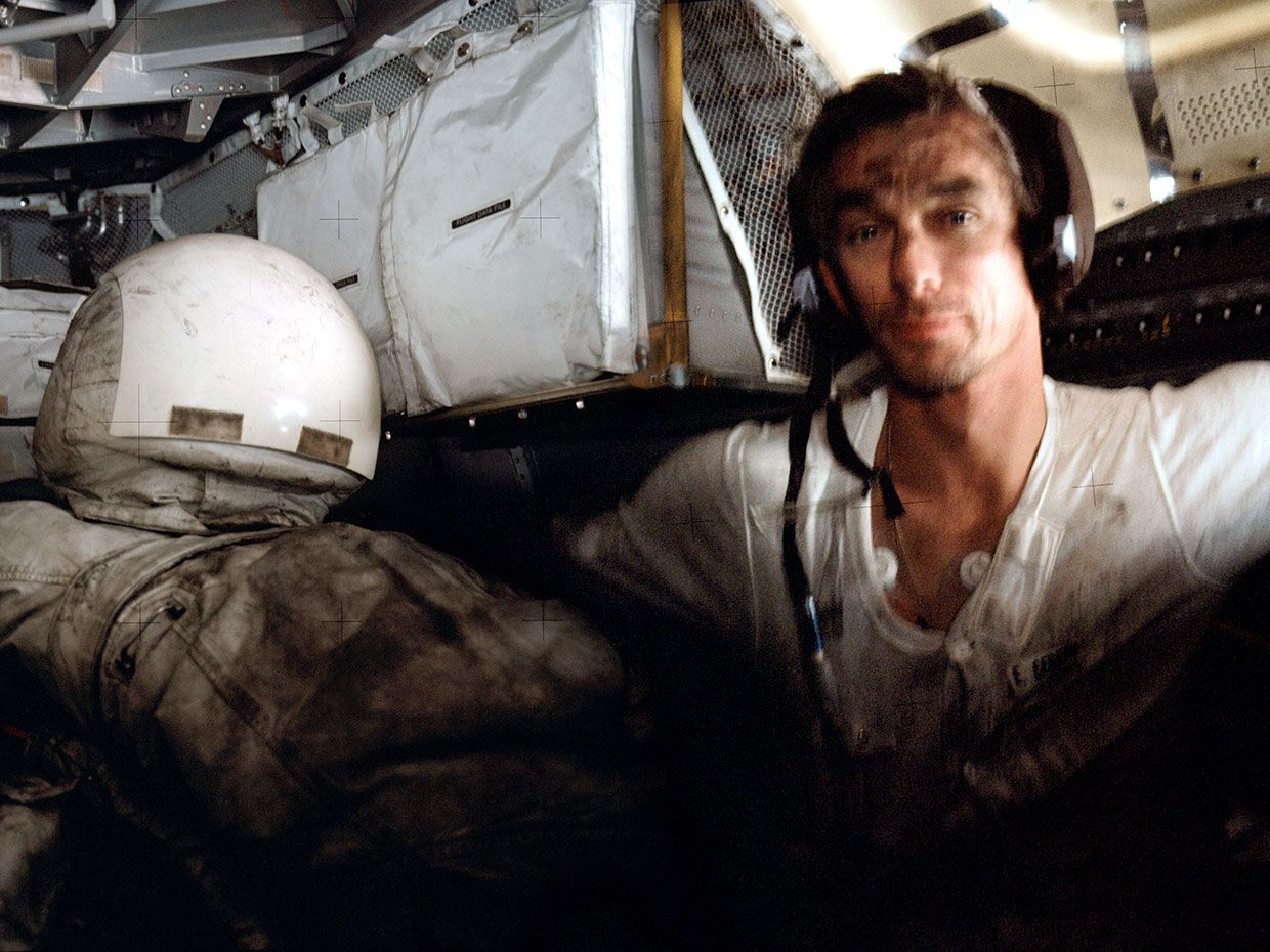 Photo of Apollo 17 astronaut, Eugene Cernan.