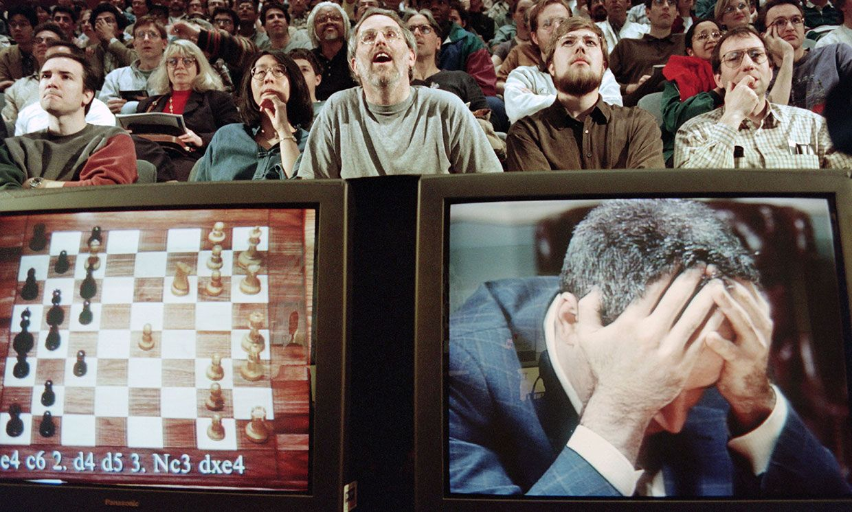 In 1997 Garry Kasparov lost to IBM's Deep Blue, the first time that a reigning world chess champion was bested by a computer.