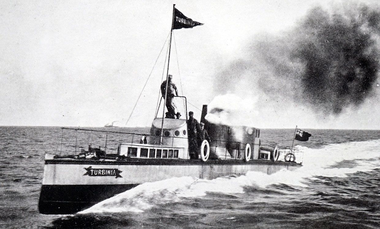The experimental vessel, SY Turbinia.