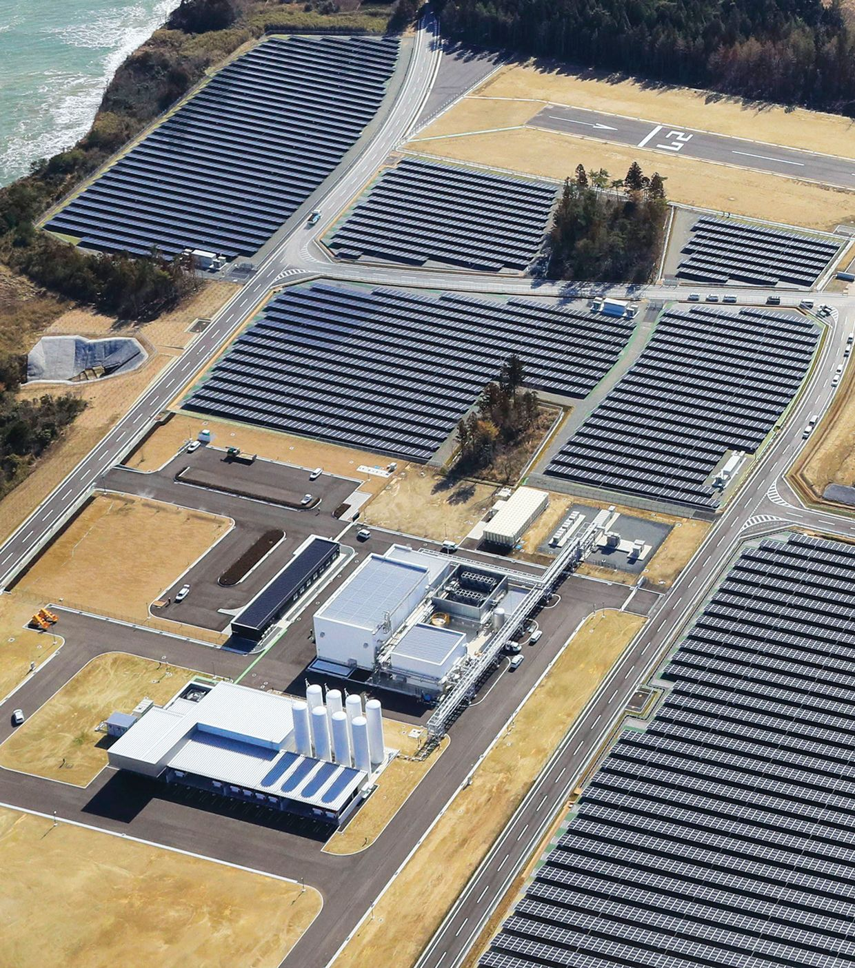 Image of the Fukushima Hydrogen Energy Research Field.