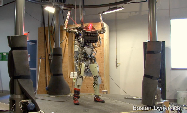 Petman humanoid robot from Boston Dynamics on video