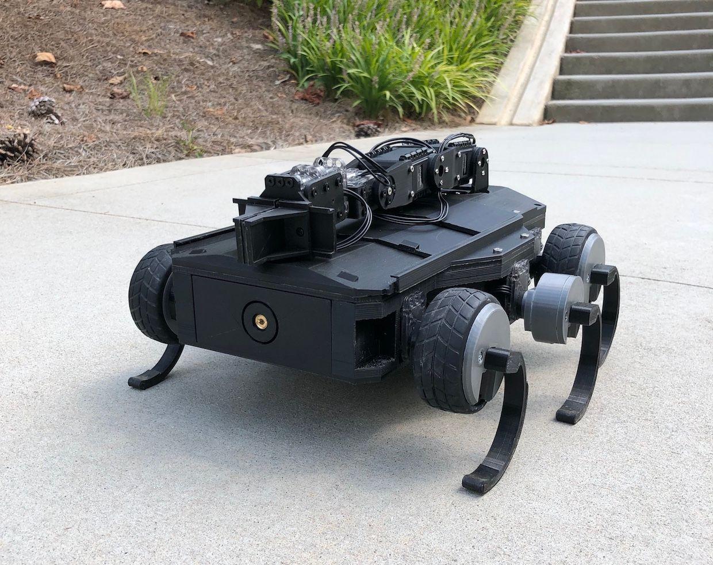 Georgia Tech robot that changes wheels/shoes