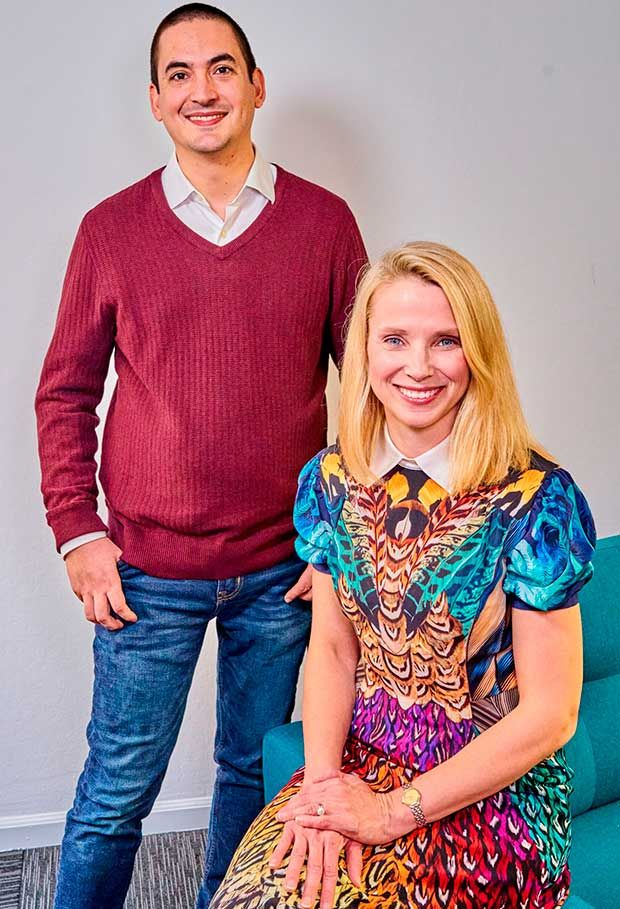 Sunshine founders Marissa Mayer (right) and Enrique Munoz Torres