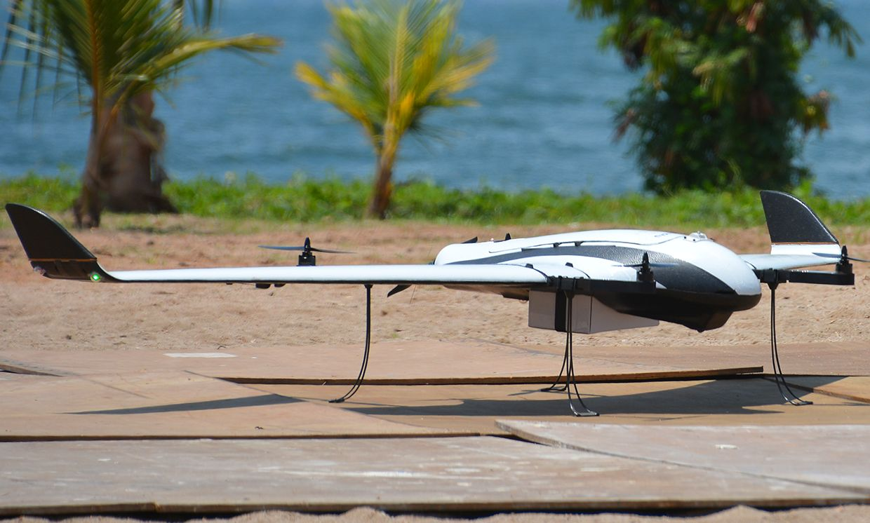 Close-up of Stockholm-based Globhe's drone.