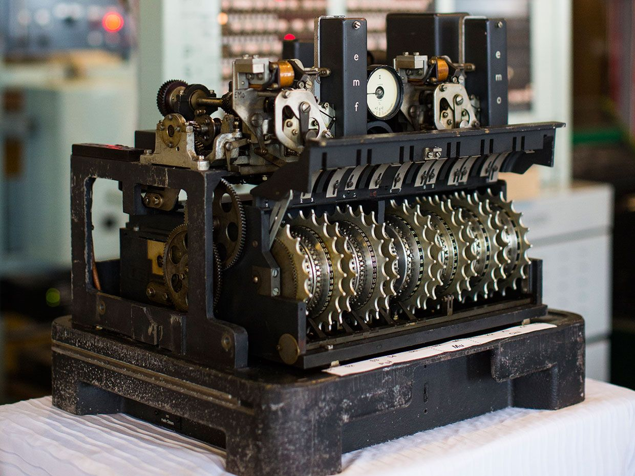 Photo of one of Bletchley Park's Colossus machines
