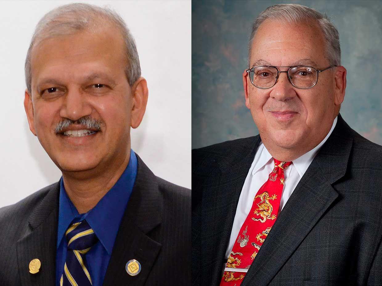 Photo of Fellow S.K. Ramesh and Life Senior Member Francis Grosz