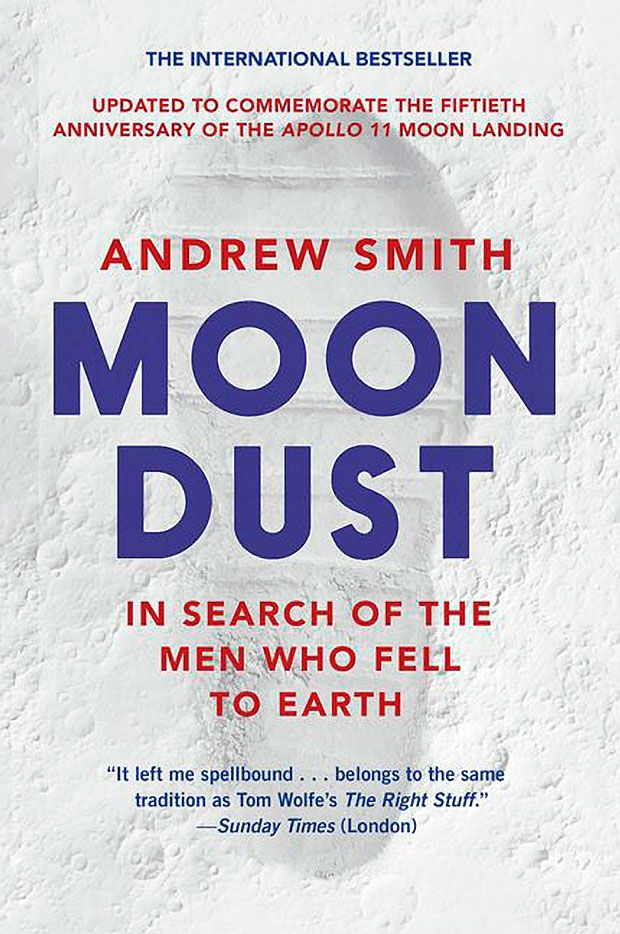 "Book cover, ""Moondust: In Search of the Men Who Fell to Earth"""