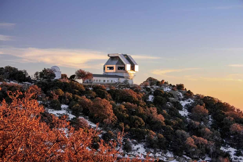 A photo of Kitt Peak National Observatory, in Arizona